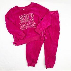Juicy Couture Pink Velour 2 Piece Set 2T